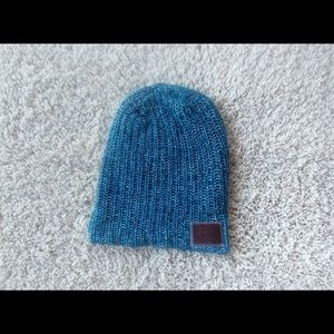Love Your Melon Teal Herringbone Knit Beanie